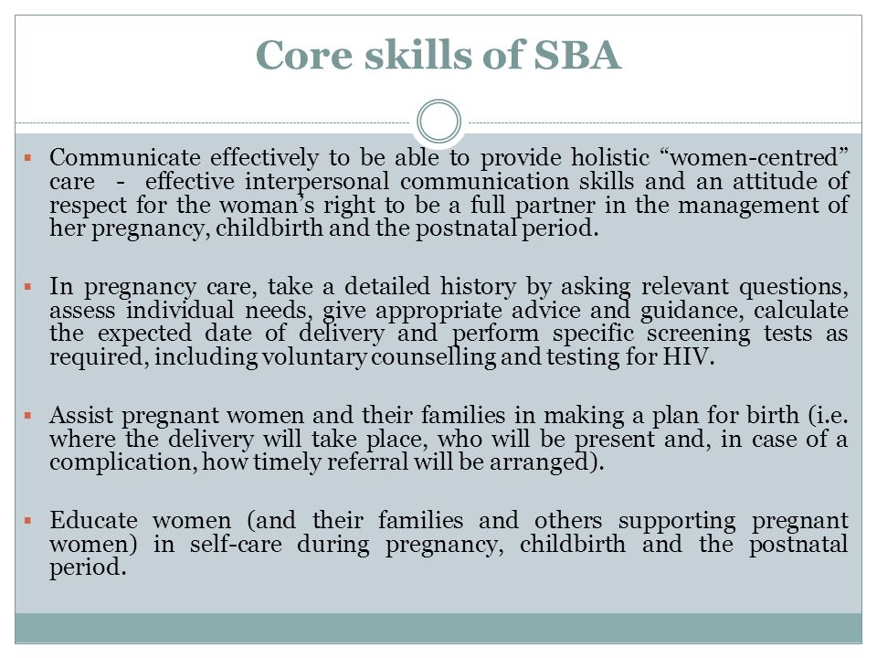 Core skills of SBA