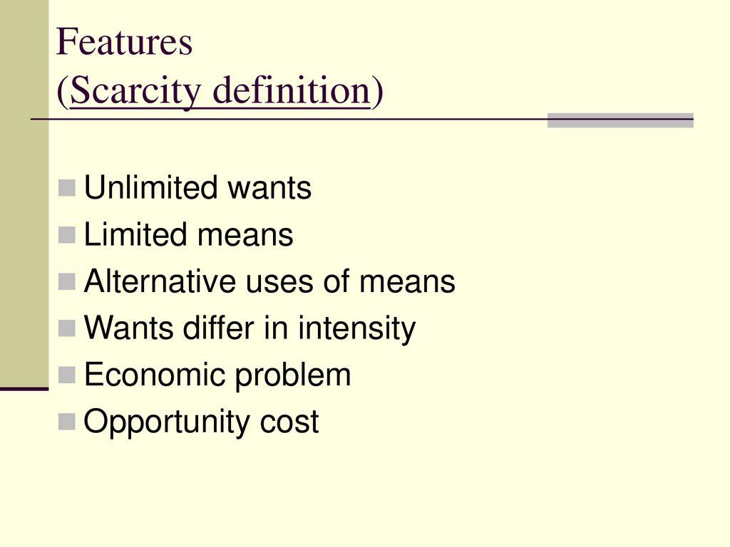 scarcity definition