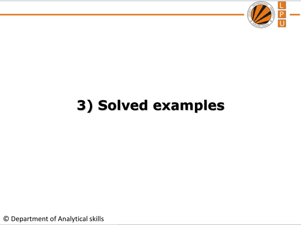 19 3 solved examples department of analytical skills