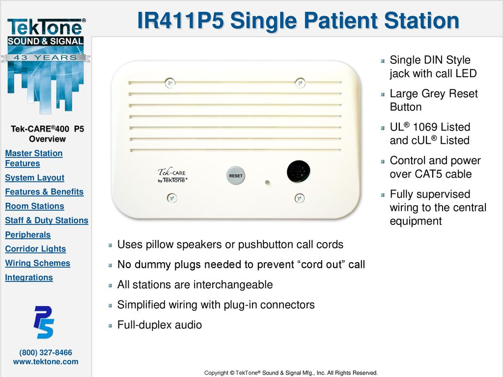 Nc402ts Master Station Features Ppt Download Electrical Wiring For Dummies 8 Ir411p5 Single Patient