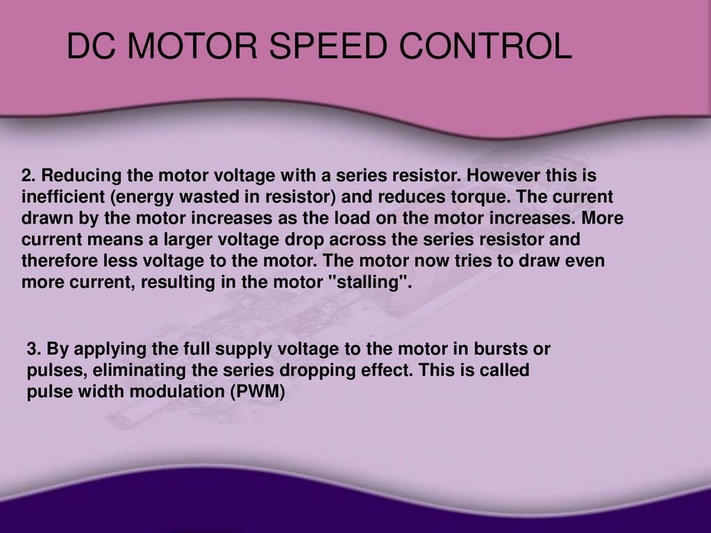 Dc Motor Speed Control 1 Introduction Ppt Download Power Opamp Servo Amplifier Tachometer