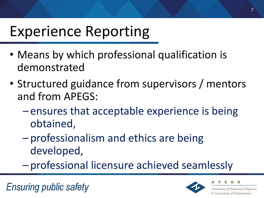 7 Experience Reporting Means