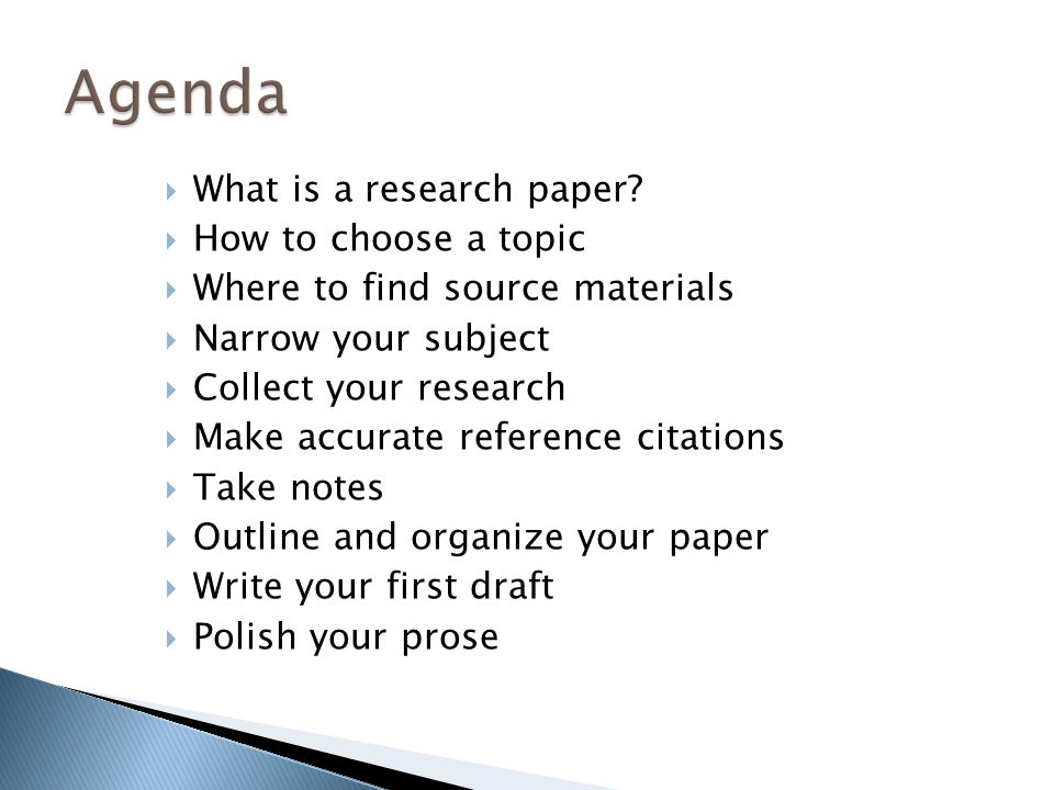 basics of writing a research paper The basics of an english research paper (printable version here)a well-constructed research paper properly synthesizes the writer's views with the outside perspectives and critiques of other authors.