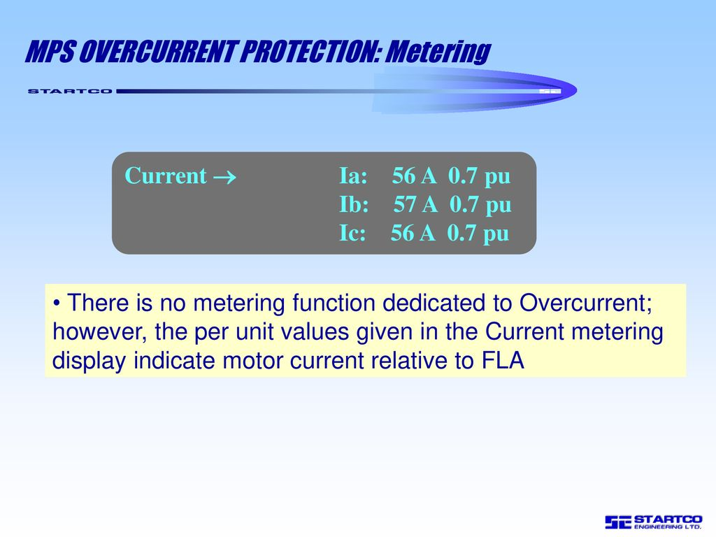 Mps Motor Protection System Ppt Download Function Of Overcurrent Relay Metering