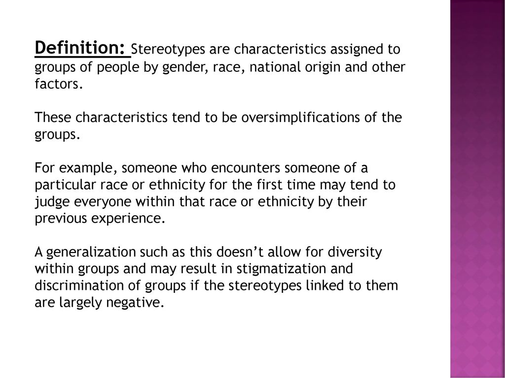 what is a stereotype ppt download