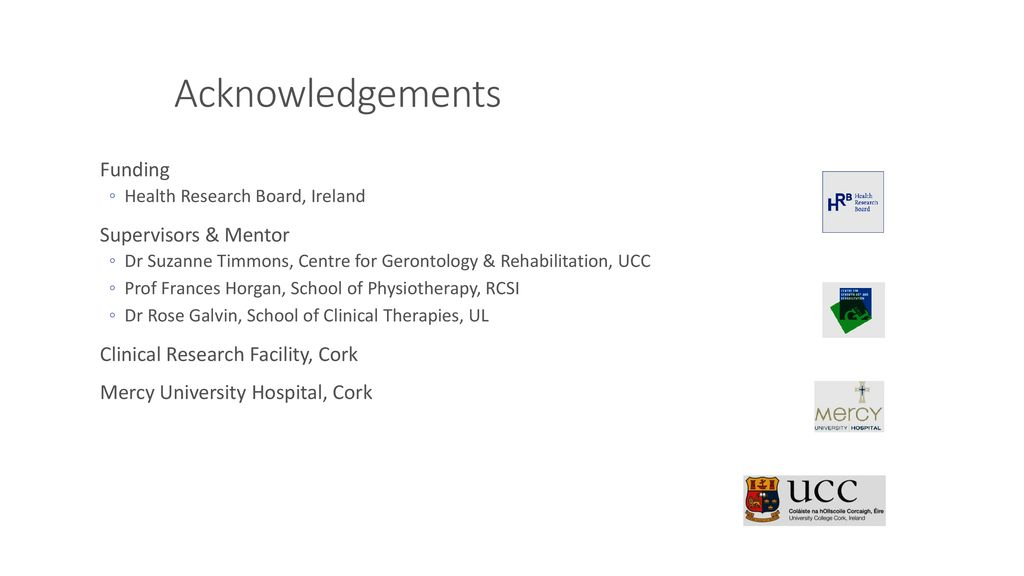Ruth McCullagh Physiotherapy, UCC - ppt download