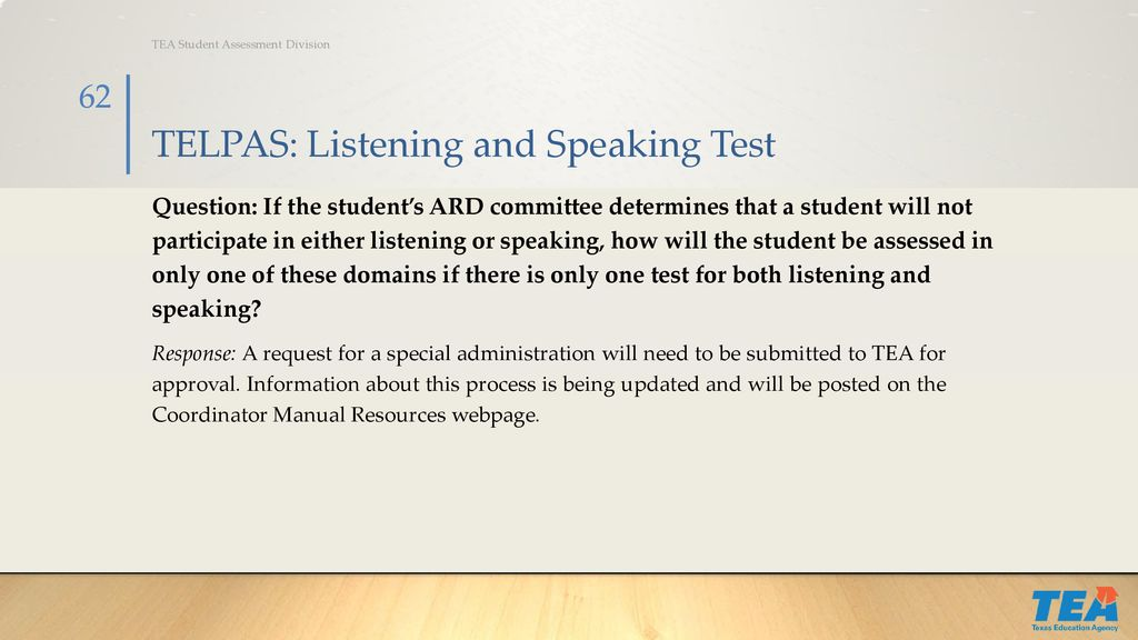 Student assessment lisa cottle, director of test administration.