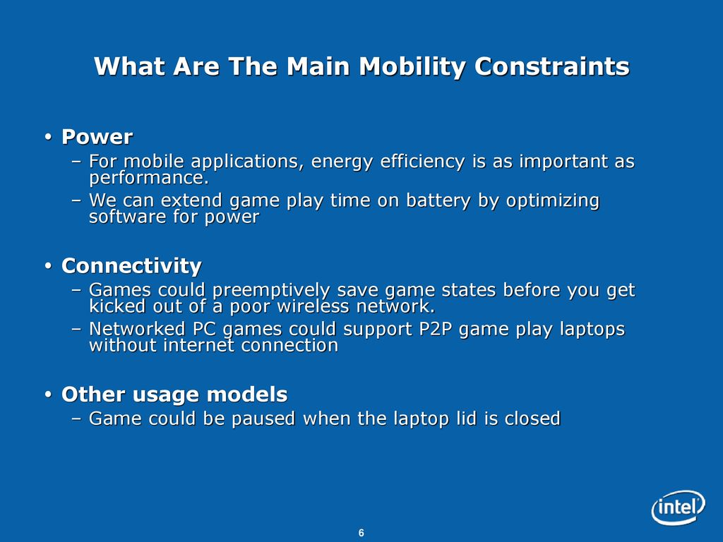 Gaming On The Go Mobility Considerations For Gaming Ppt Download