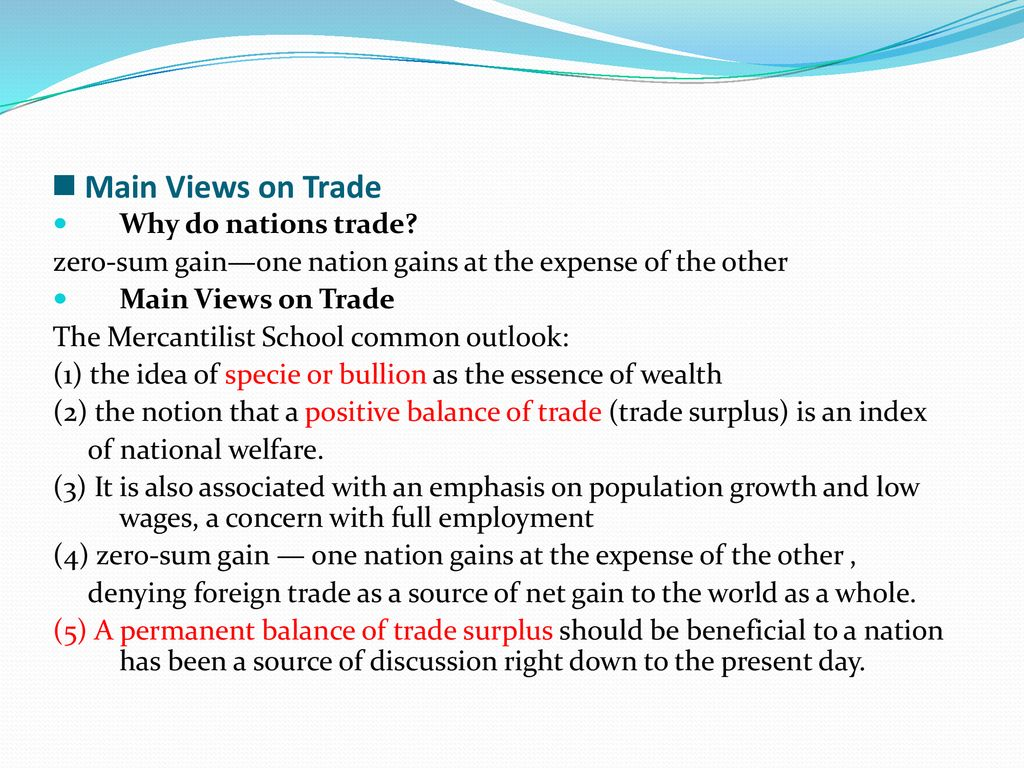 why do nations trade with one another