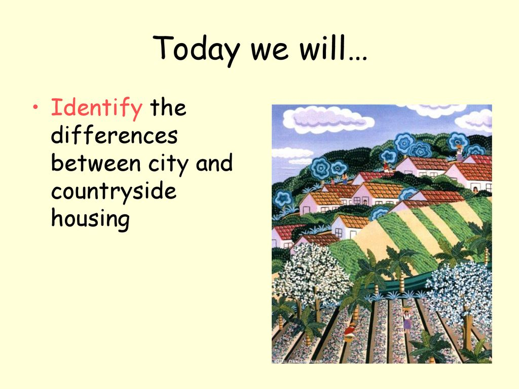 difference between city and countryside