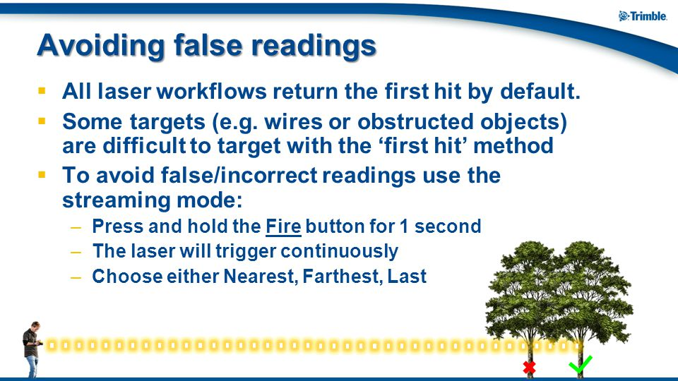 Avoiding false readings
