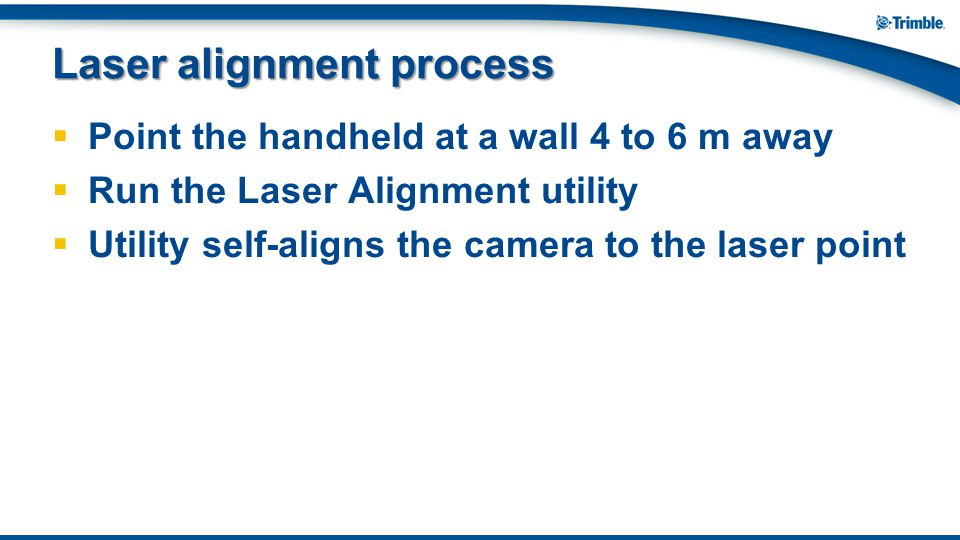 Laser alignment process