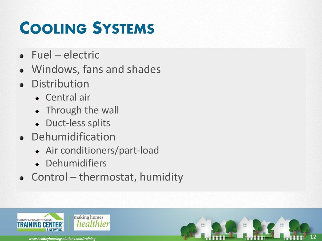 House As A System Ppt Download Residential Electric Windows Cooling Systems Fuel Fans And Shades Distribution