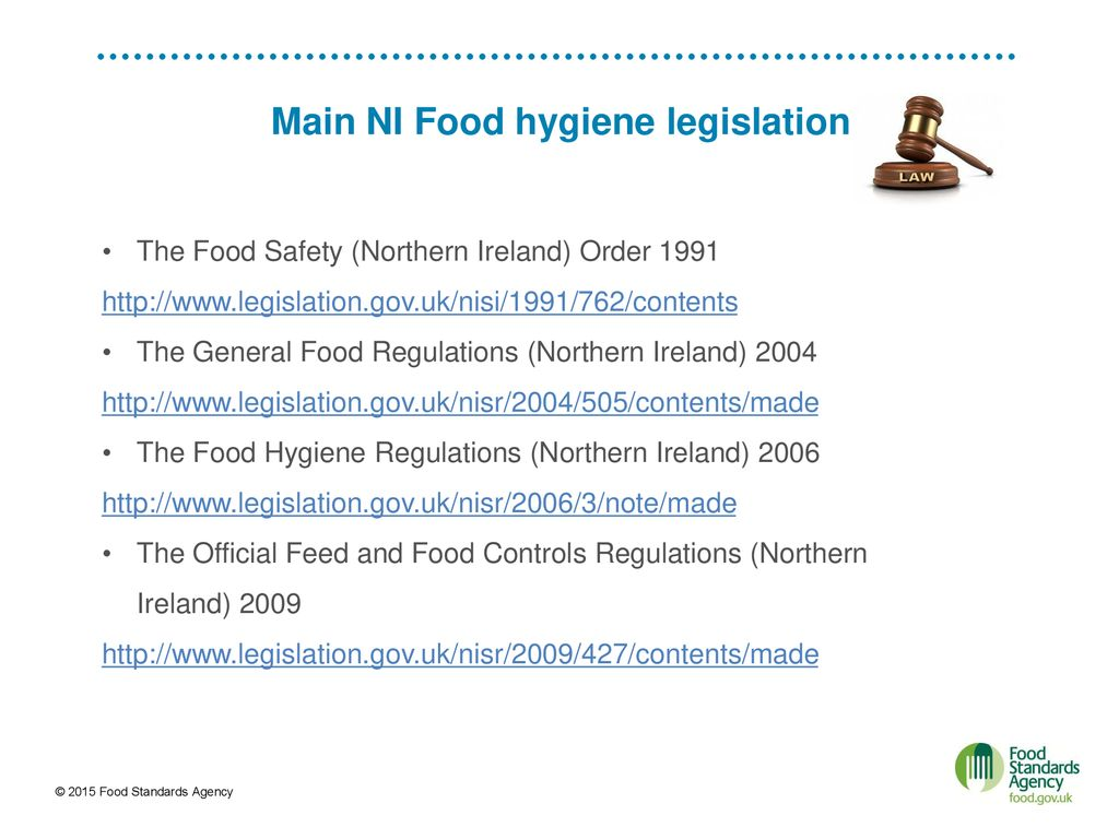 Introduction To Fsa Explanation Of Eu And National Food Law