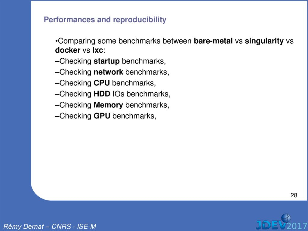 What place for the containers in the HPC world ? - ppt download