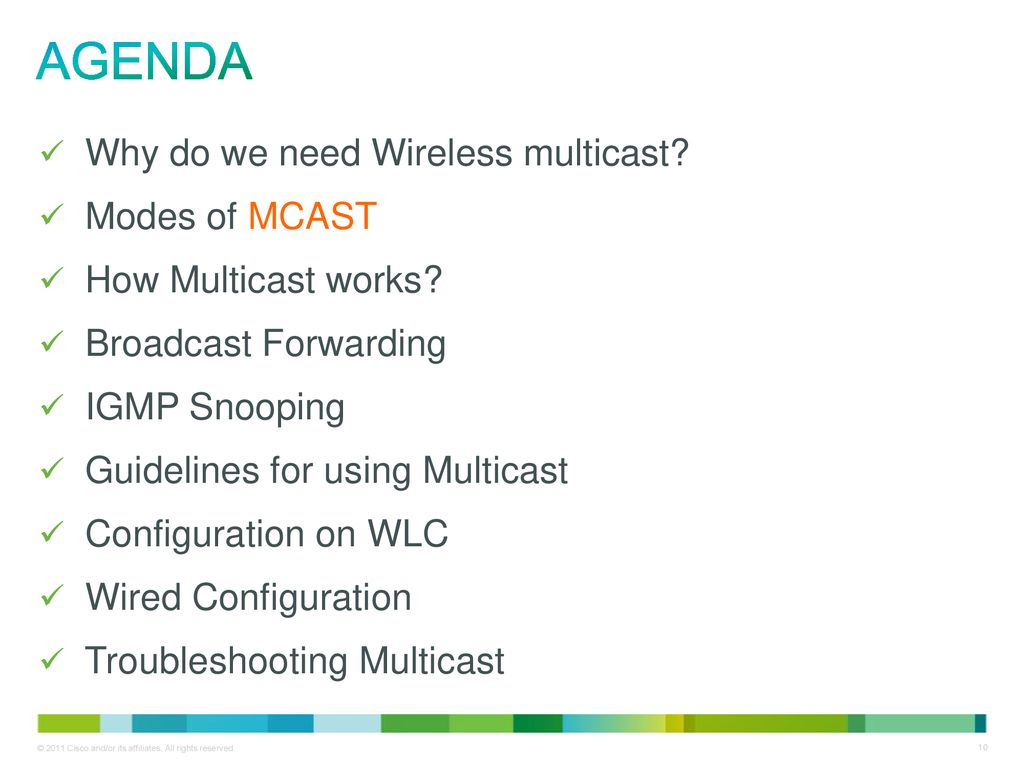Cisco support community expert series webcast multicast on cisco 10 agenda asfbconference2016 Gallery