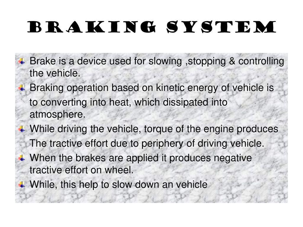 Braking System Working And Application Ppt Download Control Maximum When R 0 Short Circuit Brake 2