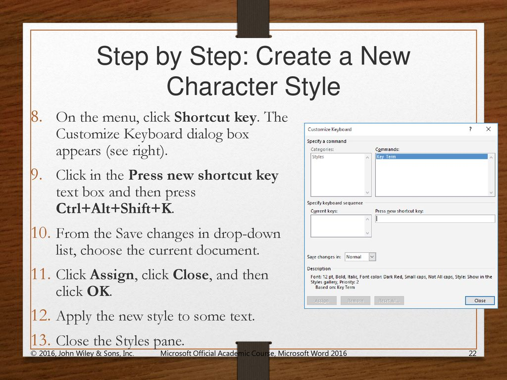 shortcut keys for save as in word 2016