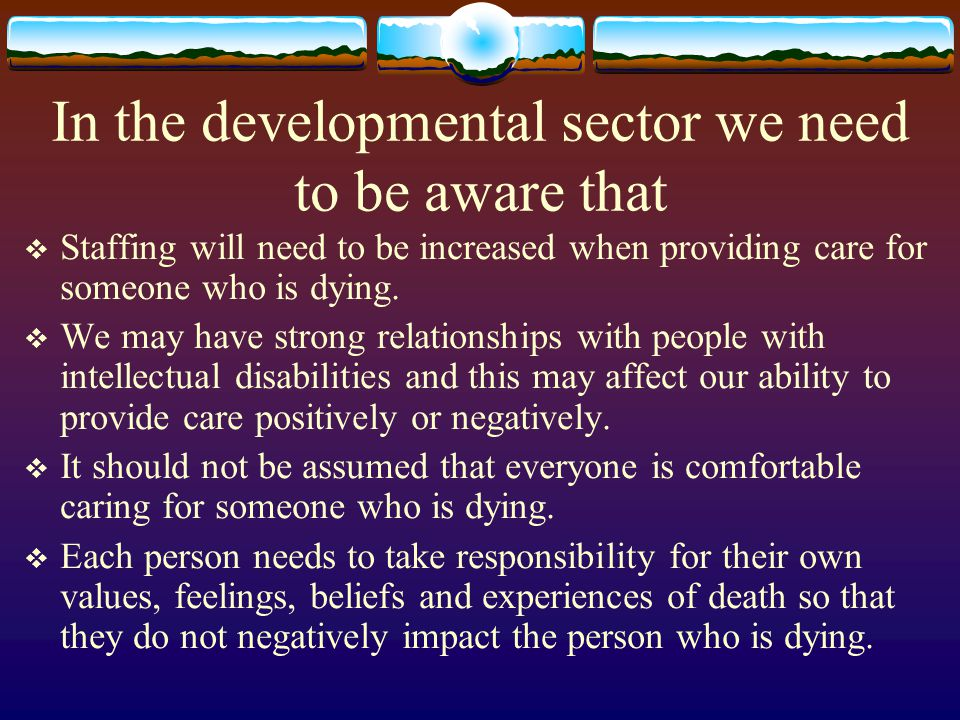 In the developmental sector we need to be aware that