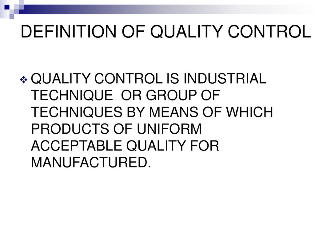 quality control. - ppt download