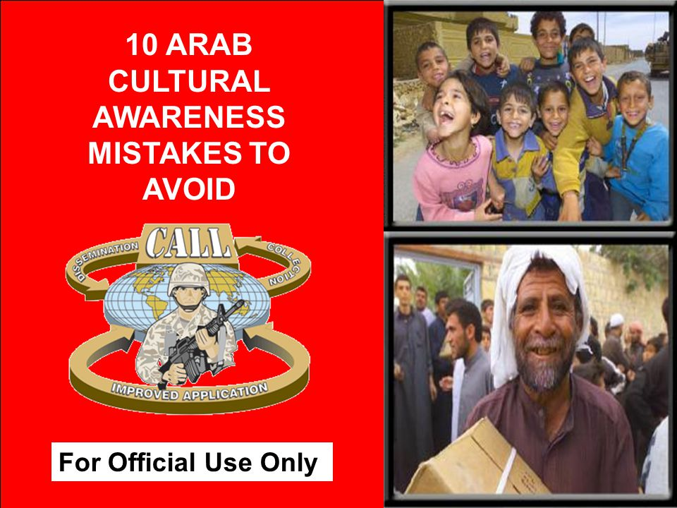 10 ARAB CULTURAL AWARENESS MISTAKES TO AVOID