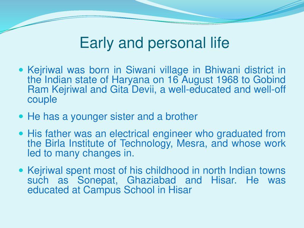 Arvind Kejriwal  - ppt download