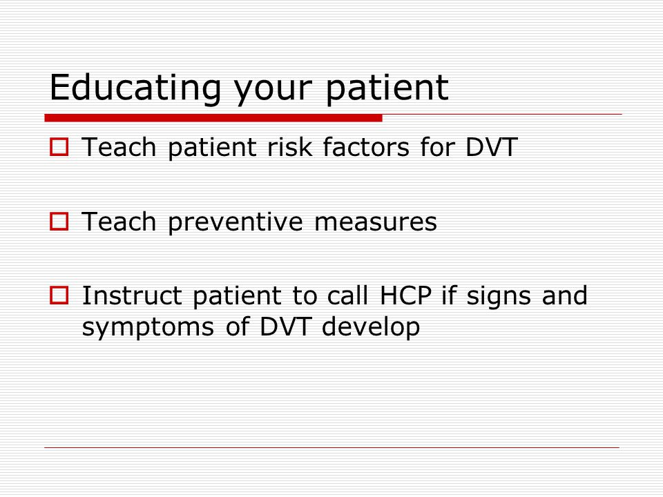 Educating your patient