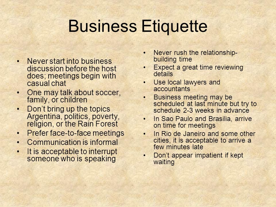 Global business etiquette ppt video online download 34 business etiquette reheart Image collections