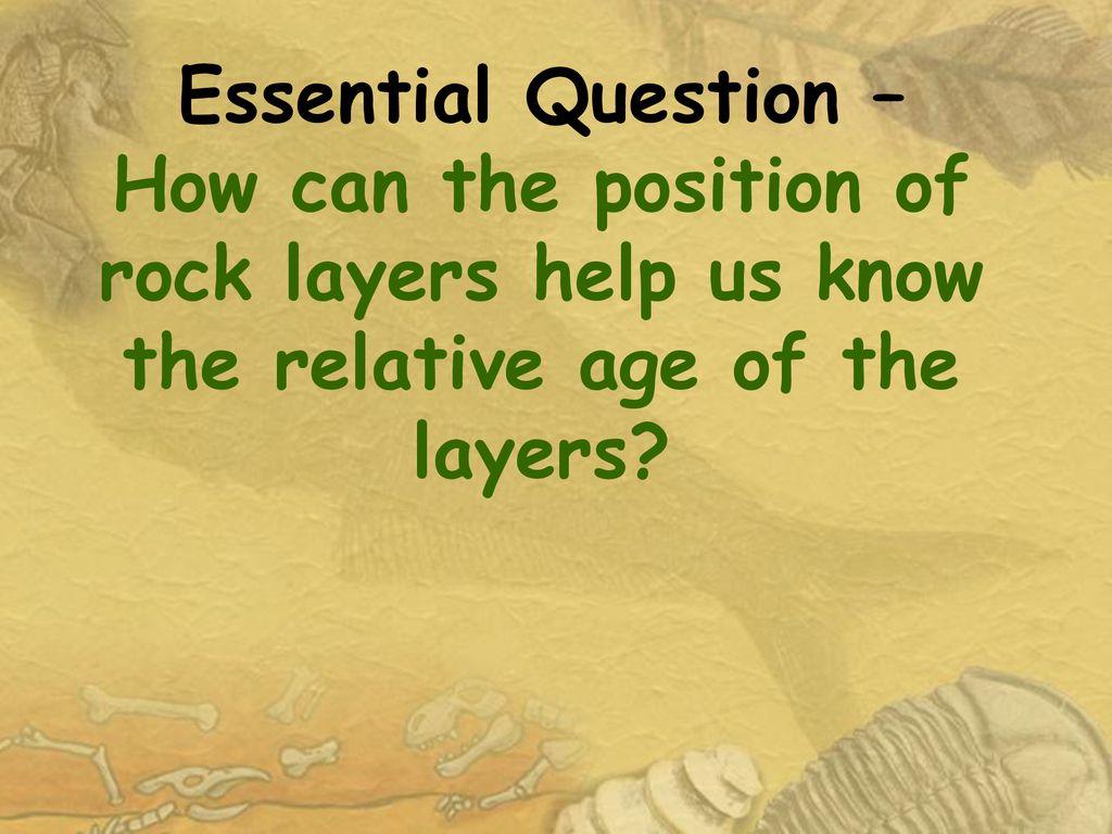 Relative dating of rock strata worksheet