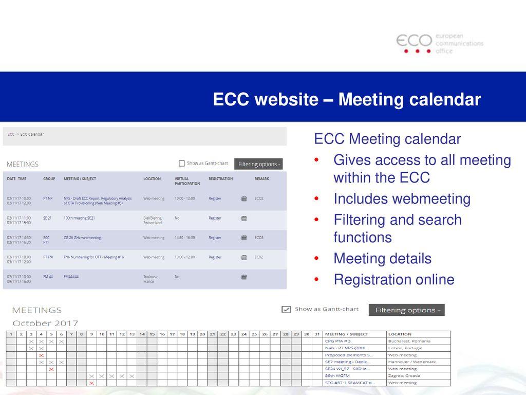 Ecc Calendar.Session 4 Cept Portal Ecc Website And Other Tools Ppt Download