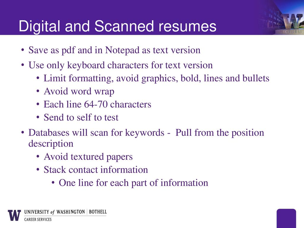 technical resume writing ppt download