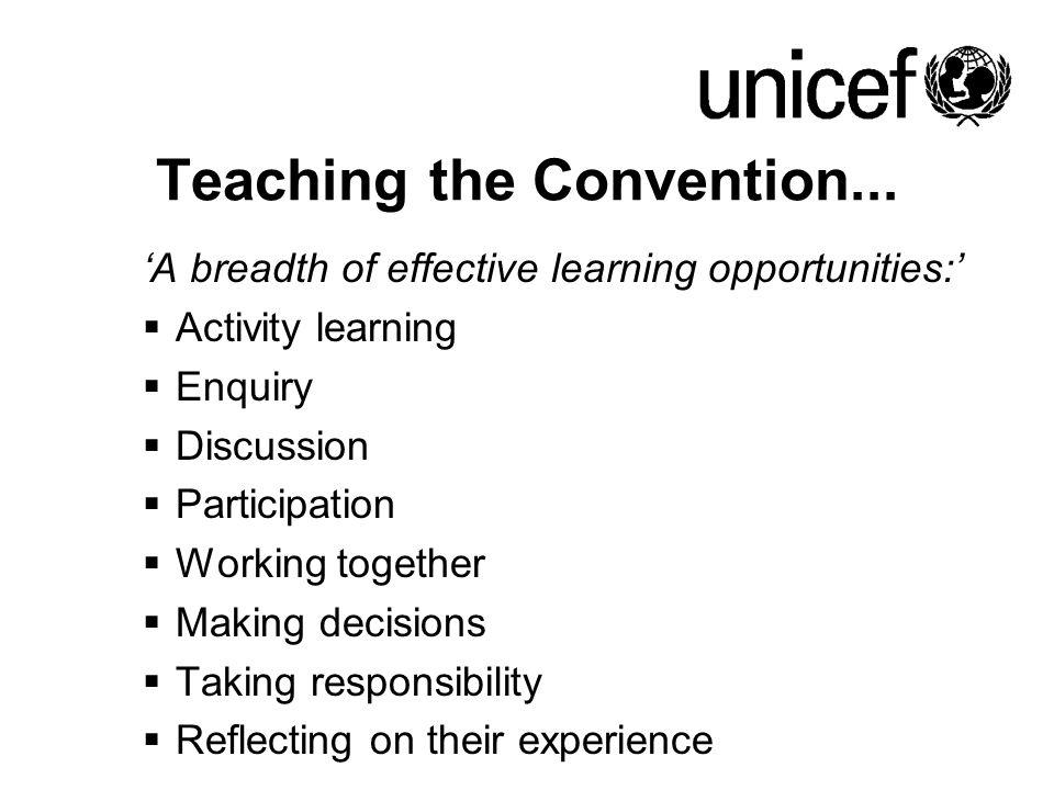 Teaching the Convention...