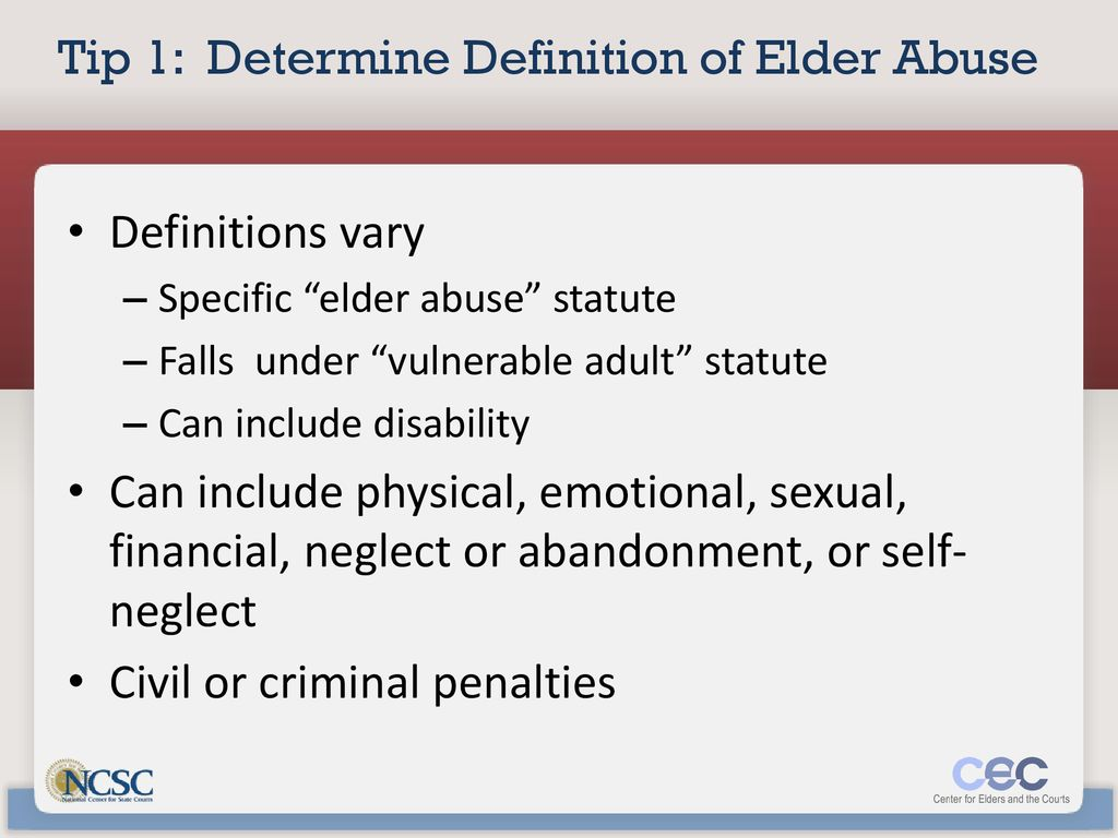 ten tips for judicial training on elder abuse - ppt download