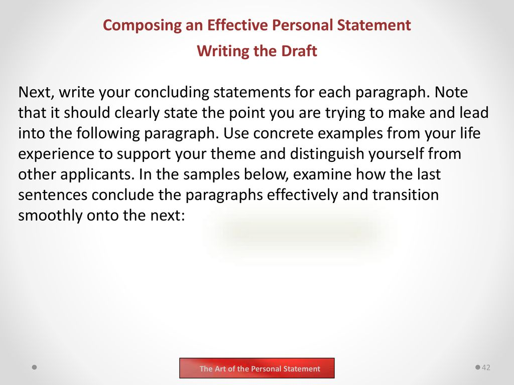 how to write a conclusion for a personal statement