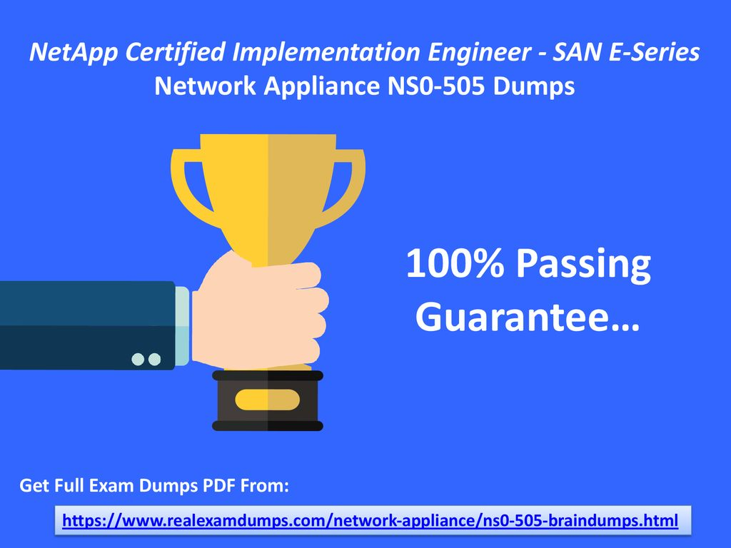 Netapp Certified Implementation Engineer San E Series Ppt Download