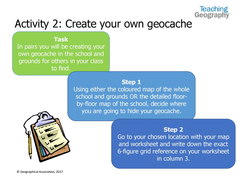 What is a Geocache? Thinking time Use show-me boards if you want to ...