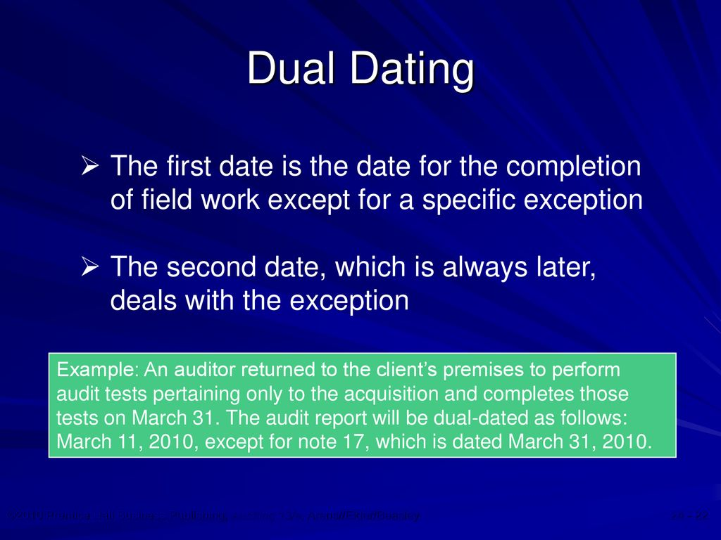 Dating auditor