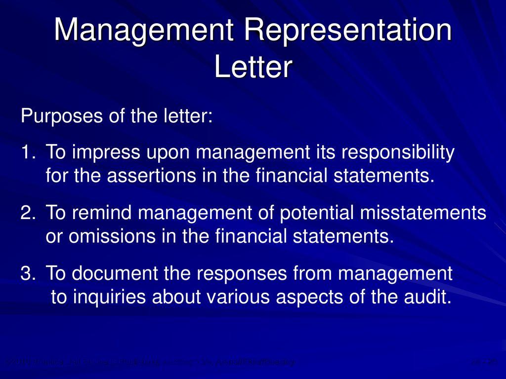 Completing the audit chapter ppt download management representation letter spiritdancerdesigns Image collections