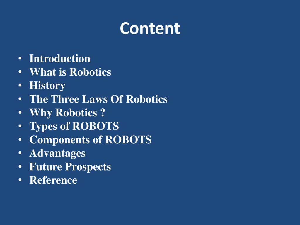 Seminar On Robotics Submitted To Submitted By Ppt Download