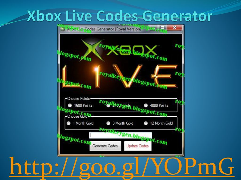 Xbox Live Codes Generator - ppt download