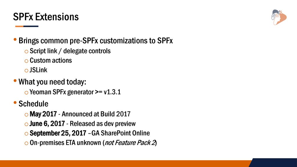 Modern UI Extensions with the SharePoint Framework - ppt download