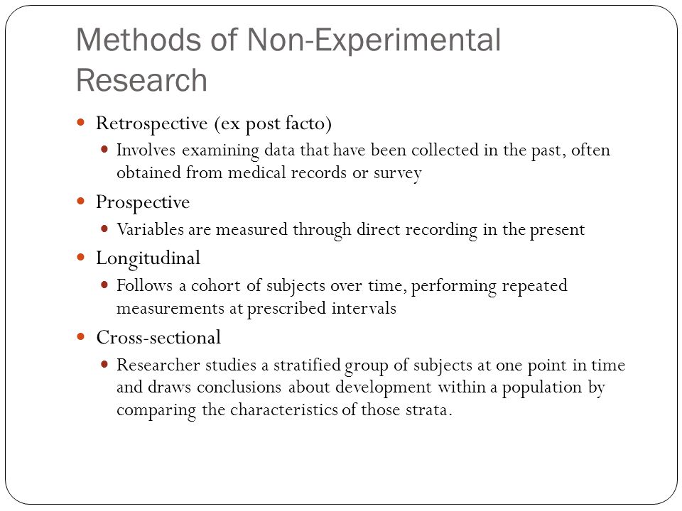 Methods of Non-Experimental Research