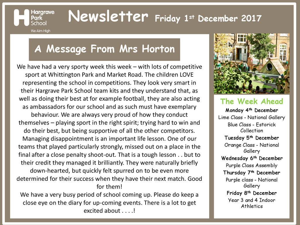 A Message From Mrs Horton - ppt download