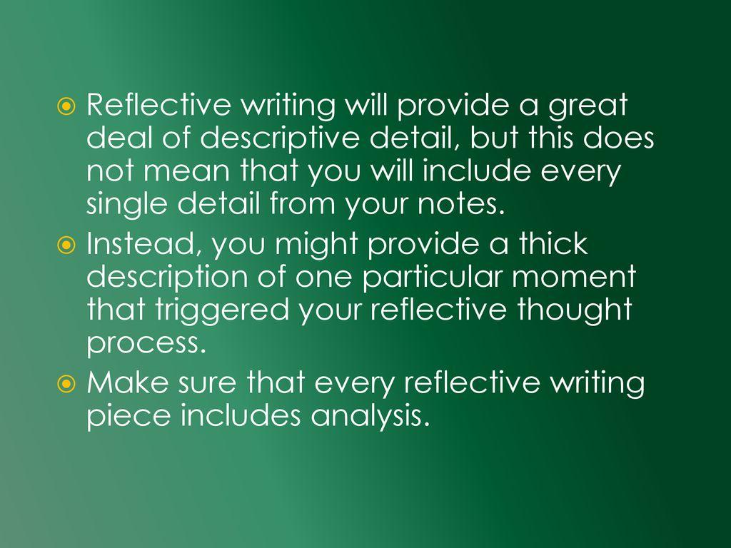 what does descriptive details mean