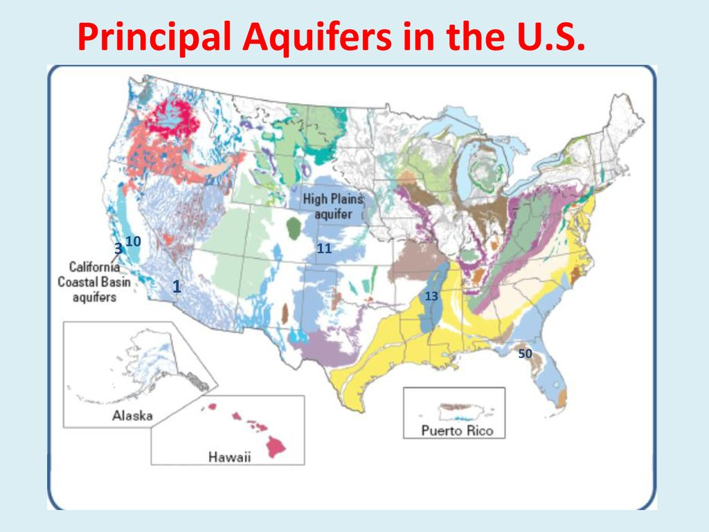 Aquifers And Groundwater Flow Ppt Download - Aquifer-map-us