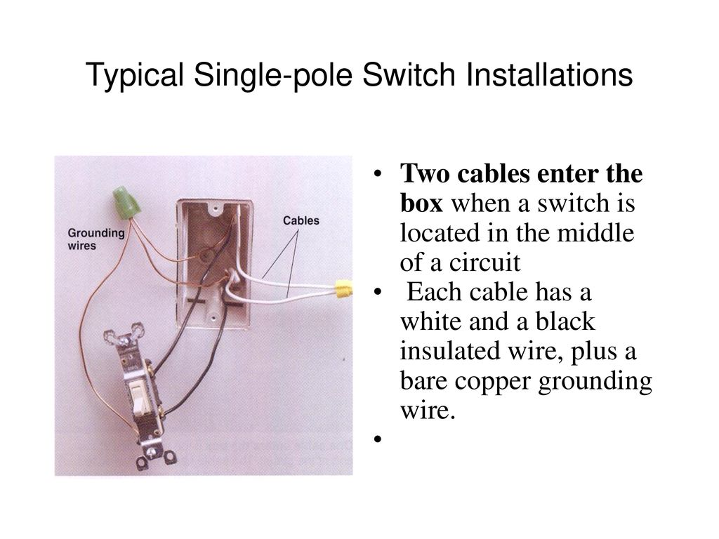 Typical Single Pole Switch Wiring - Data Wiring Diagrams •