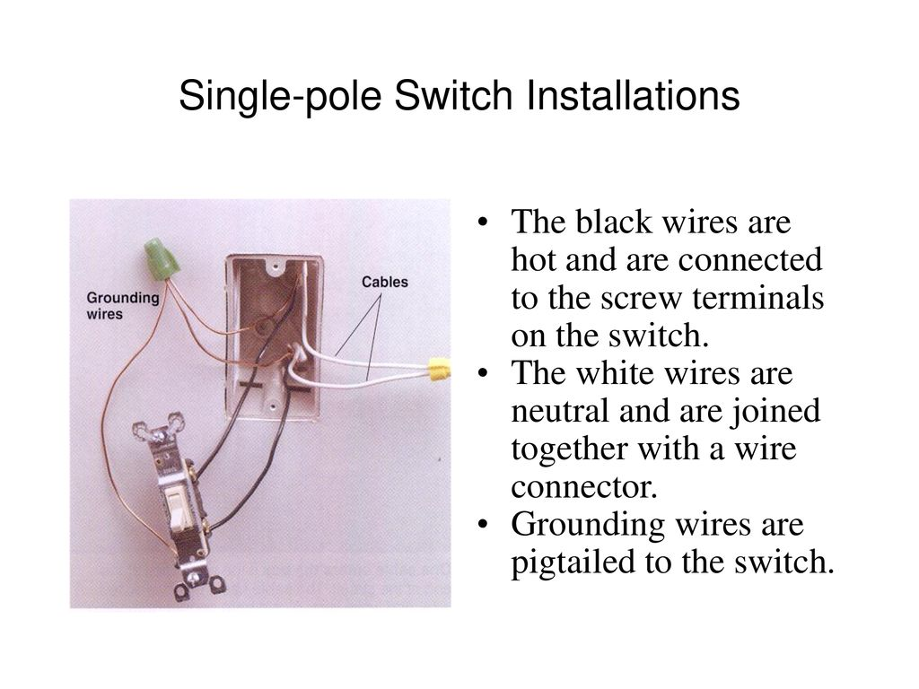 Switches W C Buster Hounshell Spring Ppt Download Black White Wire Switch Wiring Diagram Single Pole Installations