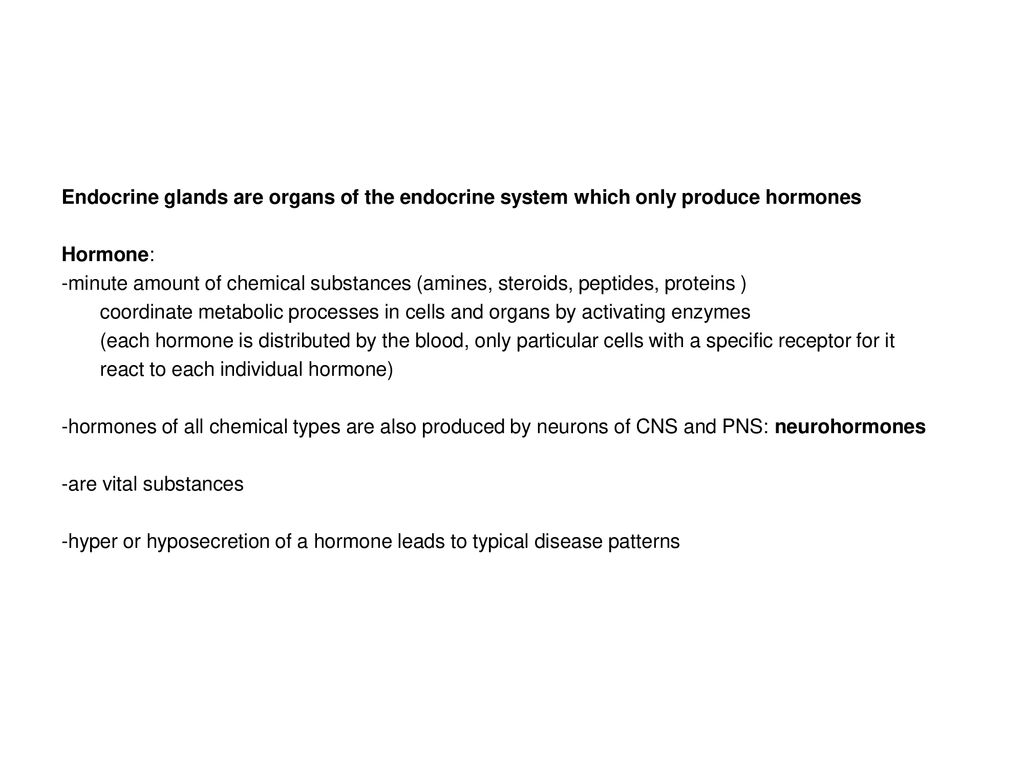 The Endocrine System Glands Ppt Download