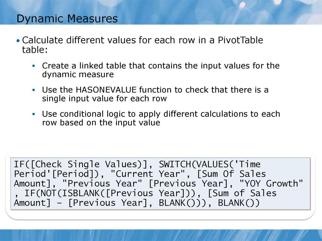 Dax Switch Range Of Values