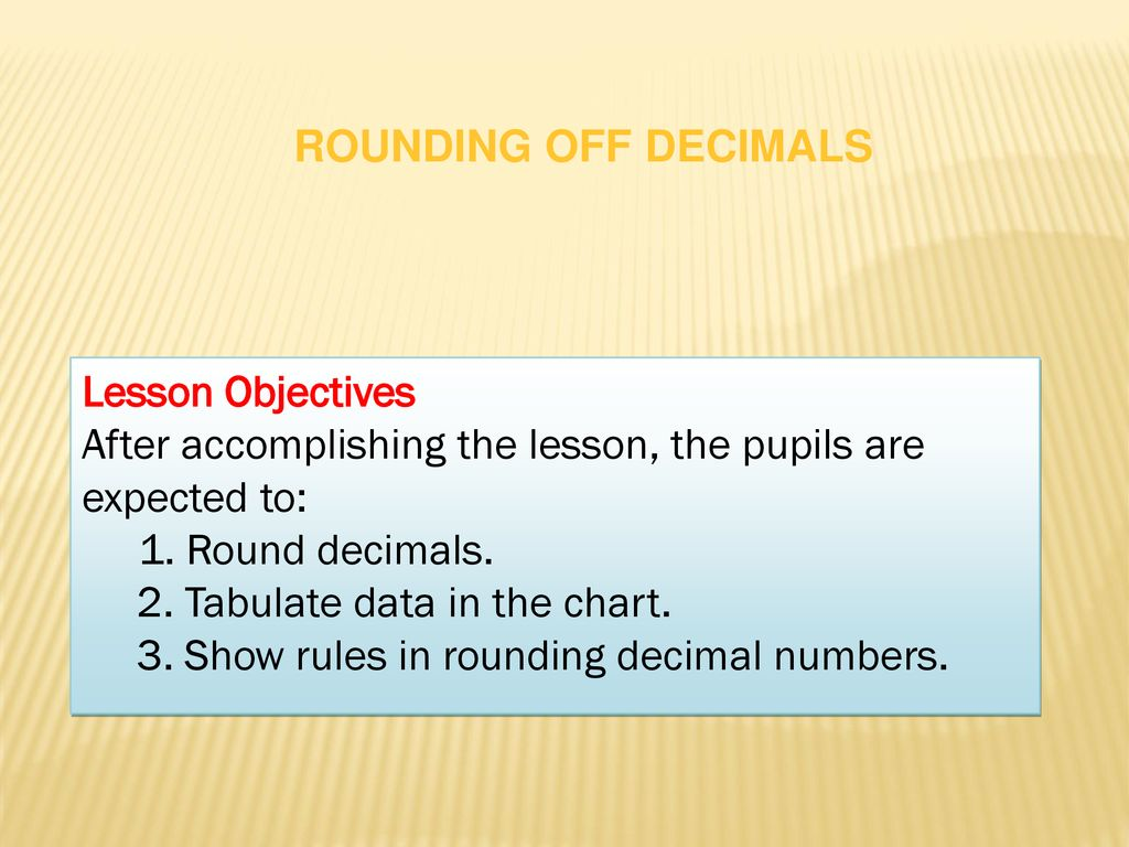 rounding off decimal places - ppt download